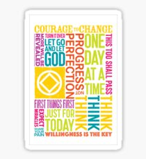 Recovery Greeting Cards Sticker