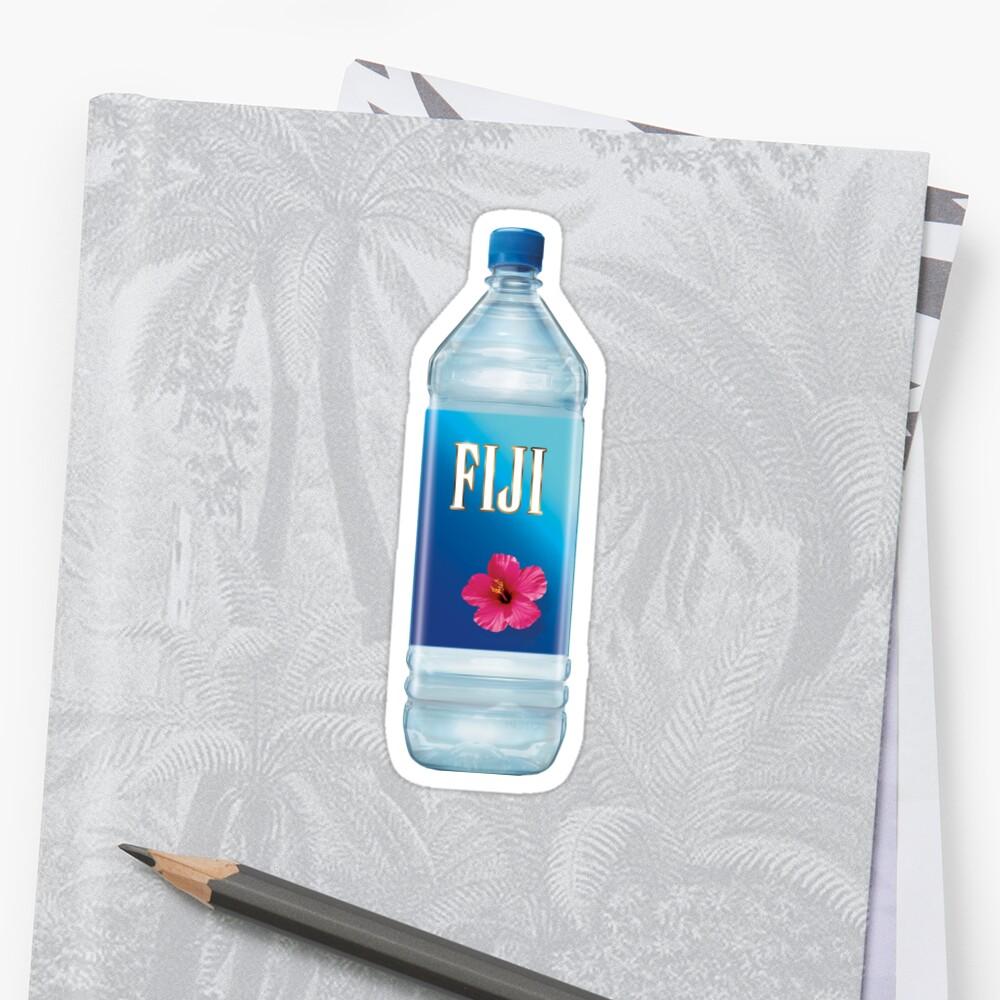 Quot Fiji Water Aesthetic Vaporwave Quot Sticker By Seriestoo2
