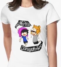 Dan And Phil Women's Fitted T-Shirt