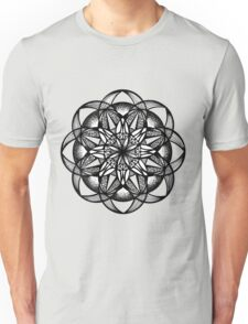 Seed of Life Mandala Pen and Ink Texture Unisex T-Shirt