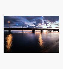 Gilchrist Bridge after sunset Photographic Print