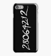 "Donnie Darko ""28:06:42:12 - World's End"" iPhone Case/Skin"