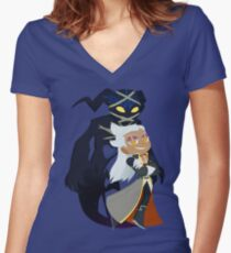 Chibi Ansem and Guardian Women's Fitted V-Neck T-Shirt