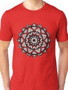 Traditional Lotus Mandala Pen and Ink Unisex T-Shirt