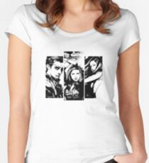 B&W BtVS Trio Women's Fitted Scoop T-Shirt