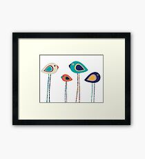 Leggy cute birds  Framed Print
