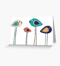Leggy cute birds  Greeting Card