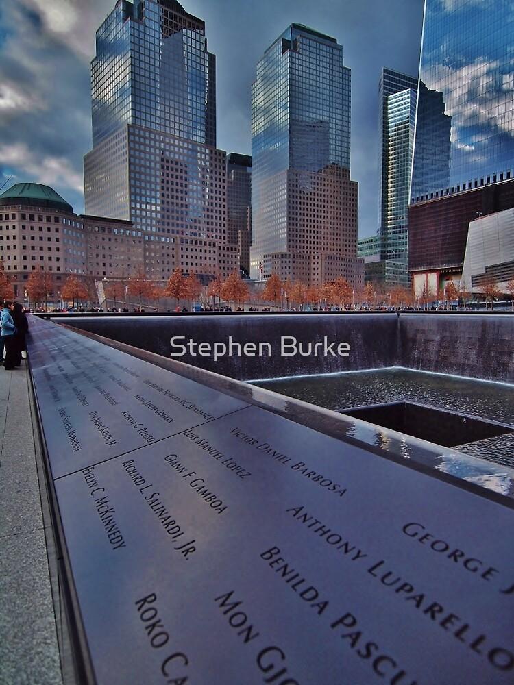 World Trade Center Memorial  by Stephen Burke