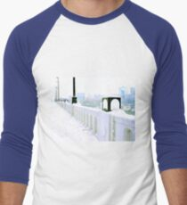 Just a Glimpse of Downtown Knoxville from the Henley Street Bridge, Knoxville, Tennessee Men's Baseball ¾ T-Shirt