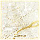 Detroit Karte Gold von HubertRoguski
