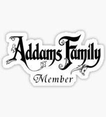 Addams Family Member Sticker