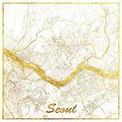 Seoul Karte Gold von HubertRoguski