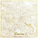 Berlin Karte Gold von HubertRoguski