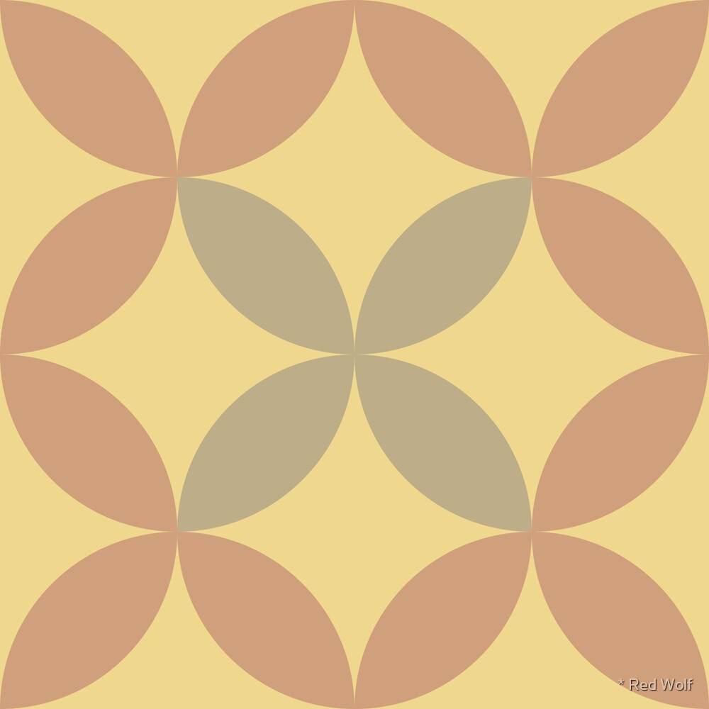 Geometric Pattern: Circle Nested: Oxide by * Red Wolf