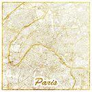 Paris Karte Gold von HubertRoguski