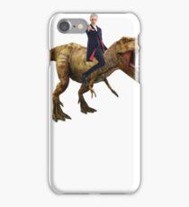 Capaldi on a Dinosaur iPhone Case/Skin