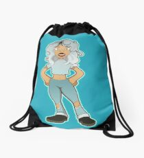 Kiera sticker 001 Drawstring Bag