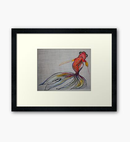 Goldfish Pond (close up #2) Framed Print