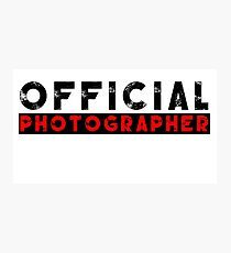 official photographer Photographic Print