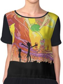Interdimensional Rick and Morty Chiffon Top