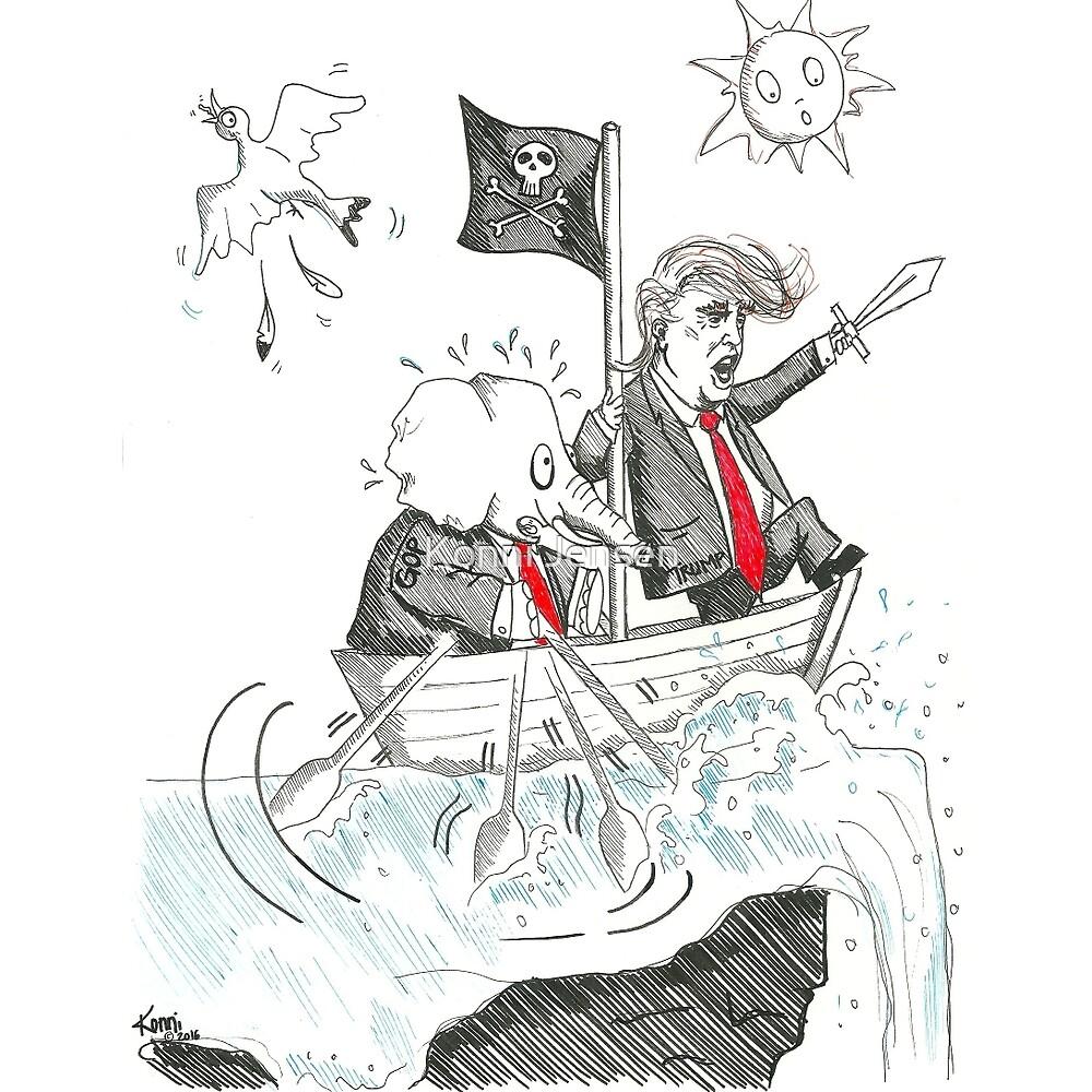 Pirate Trump by Konni Jensen