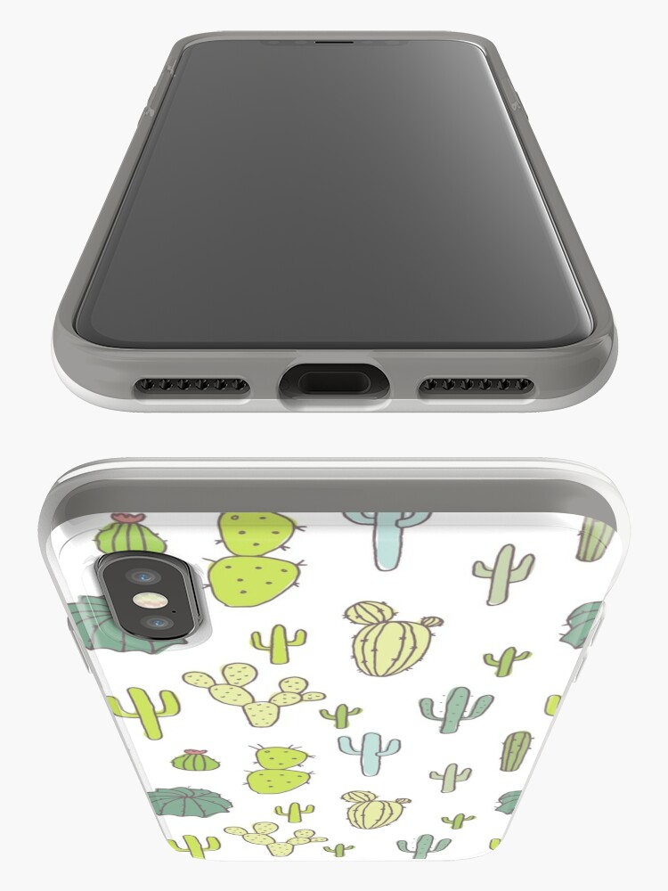 Alternate view of Cacti print iPhone Case & Cover