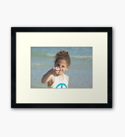 Starfish in Hand Framed Print