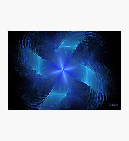 Blue Pinwheel Photographic Print