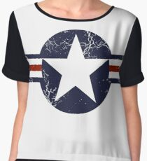 Military Roundels - United States Air Force - USAF Women's Chiffon Top
