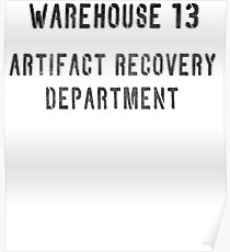 Warehouse Artifact Recovery Department Poster