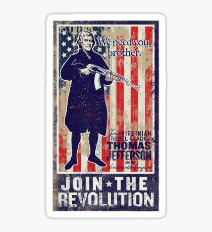 Jefferson Revolution Propaganda Sticker