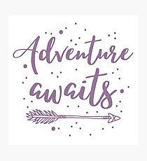 Adventure awaits with arrow Photographic Print