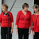 Three Ladies in Red by LouJay