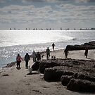 People, Dogs & Yachts enjoying a sunny Winters Day. Semaphore. by Rita Blom