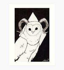 Great Horned Barn Owl Art Print