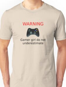 Warning Gamer girl do not underestimate (black text) T-Shirt