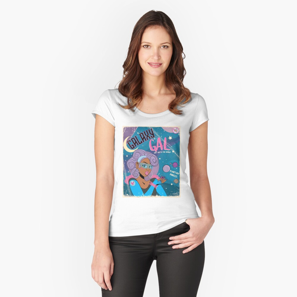 Galaxy Gal Fitted Scoop T-Shirt