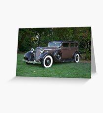 1933 Lincoln Sedan Greeting Card