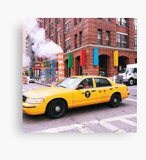 Taxi Smoke Canvas Print