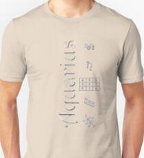 Camiseta unisex Aquarius/Saturn Talisman