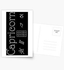 Postales Capricorn/Saturn Talisman