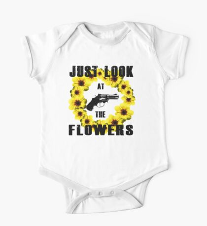 Look At The Flowers One Piece - Short Sleeve