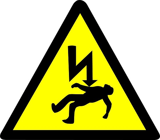 """""""Danger of electric shock Symbol."""" Posters by sweetsixty ..."""