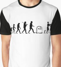 Human to Zombie Evolution Graphic T-Shirt
