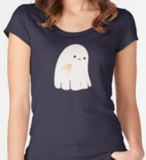Sad ghost Fitted Scoop T-Shirt