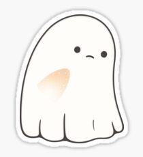 Sad ghost Sticker