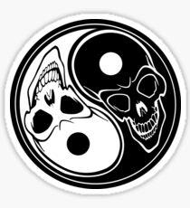 Yin Yang Skulls Sticker