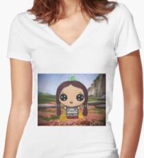 Dorothy on the Yellow Brick Road Women's Fitted V-Neck T-Shirt