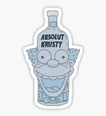 Absolut Krusty Sticker