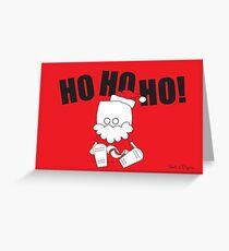 HO HO HO ROBOT SANTA Greeting Card